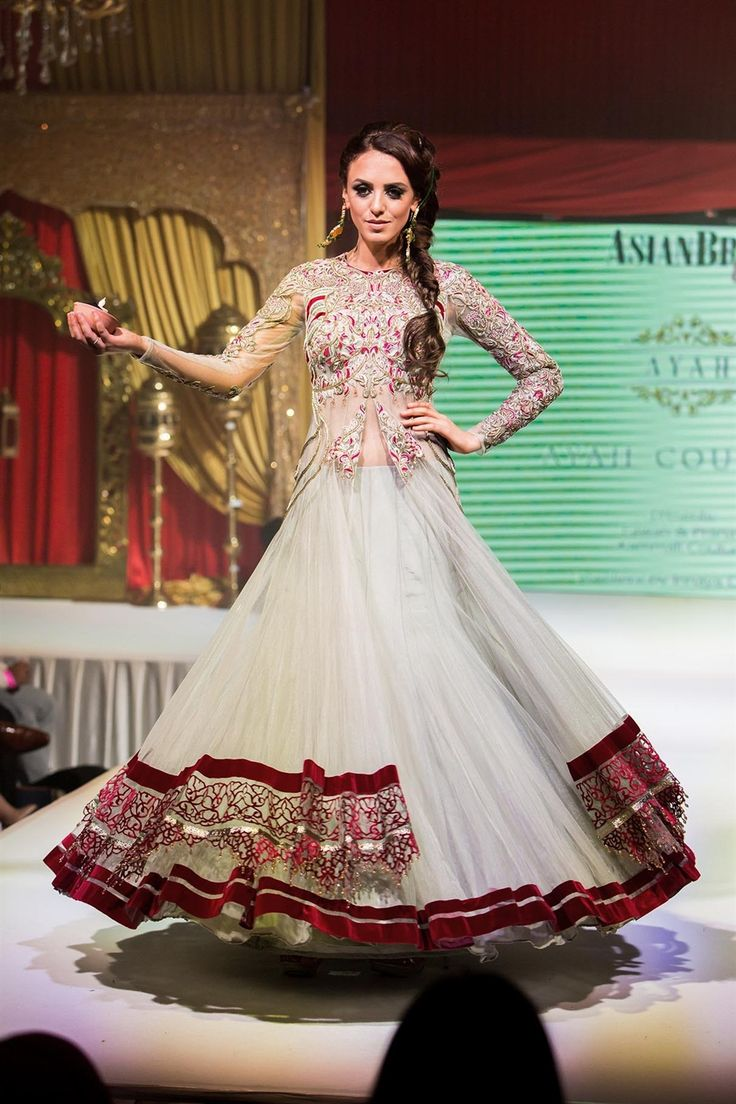 Asian Wedding Fashion Bridal Lengha Gown from Ayah Couture Check out this great fashion look I found on http://www.AsianBride.me
