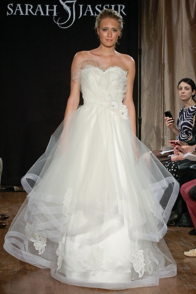 Angelique gown by designer Sarah Jassir, for curvy brides. Check out the blog for exclusive interview