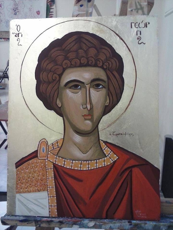 Άγιος Γεώργιος Αυγοτέμπερα σε μέγεθος 30*40