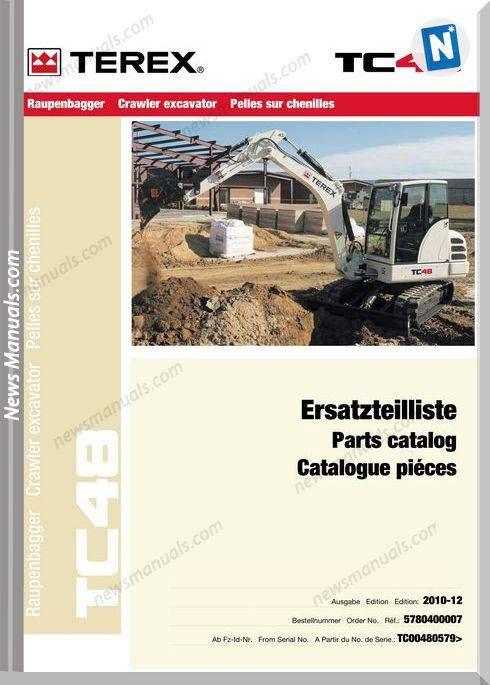 Terex Mini Crawler Excavators Tc48 0579-Xx Part Manual   Parts Manual