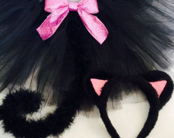 Baby Girl Cat Costume Black Cat Tutu by MonkeyPantsPartyHats
