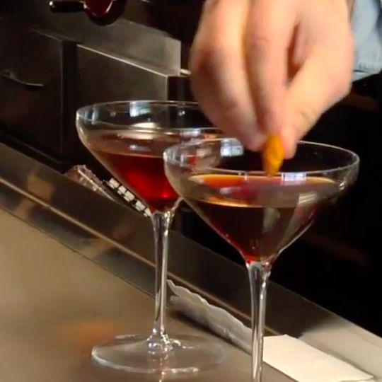 The Manhattan, the quintessential New York drink, is a classic whiskey-based cocktail.
