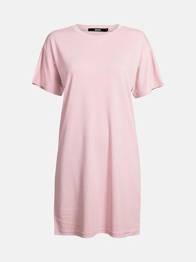Loose fit t-shirt dress in a soft modal blend. Above knee length.  Pinkki