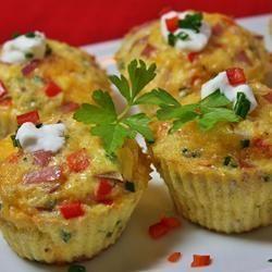 Omeletmuffins met ham paprika en ui @ allrecipes.nl