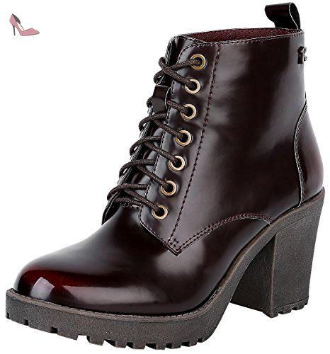 Refresh Glossy Boot Bottes bourgogne EU37 - Chaussures refresh (*Partner-Link)