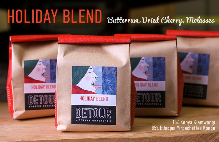@DetourCoffee Holiday Blend is back along with a new label, printed UV Offset on our Waterless press! Read the story, buy the bean! http://detourcoffee.com/products/204-holiday-blend