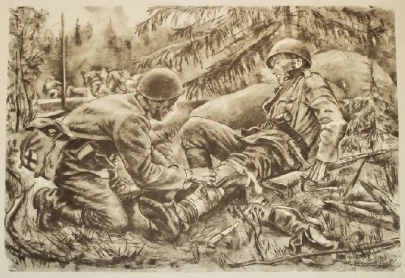Drawing made in 1939 by unknown soldier during the Winter ...