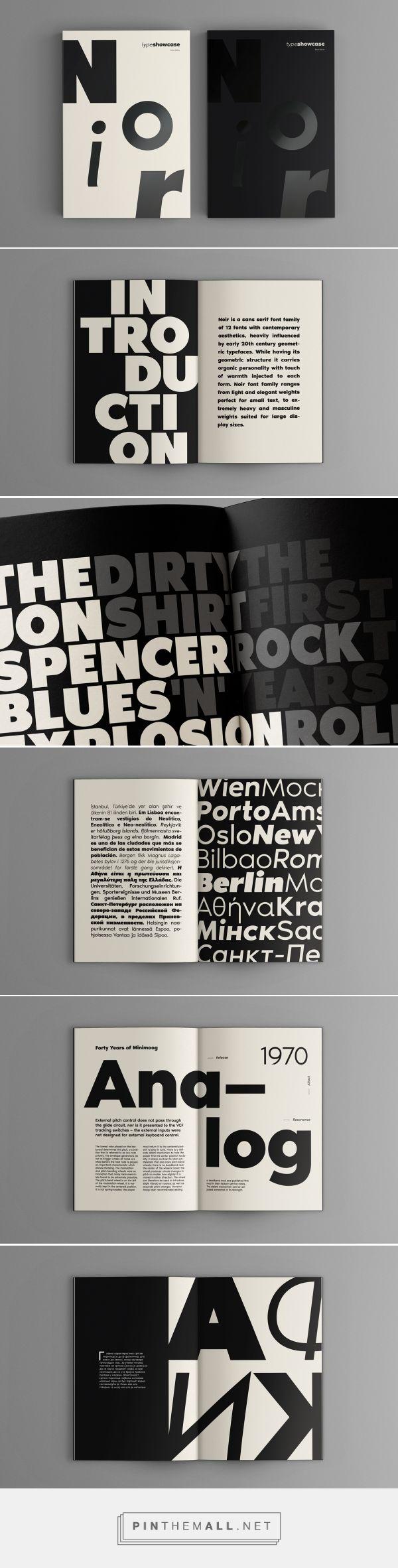 Noir™Pro Type Showcase on Behance - created via https://pinthemall.net