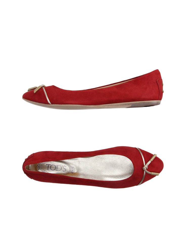 Tod's | Red Ballet Flats | Lyst