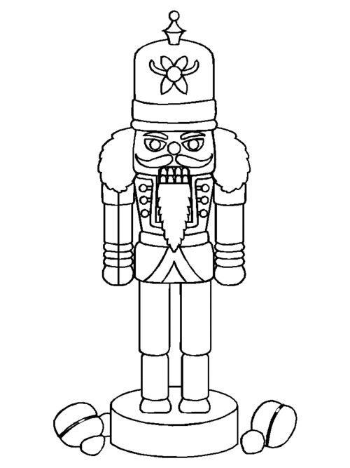 simple nutcracker coloring pages - photo#5