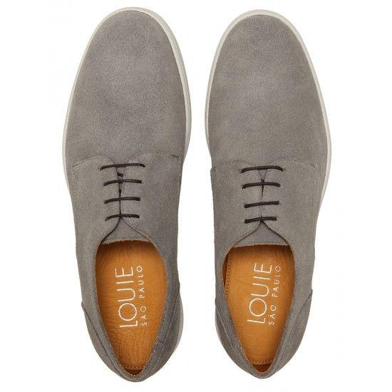 Sapato Masculino Derby Naas Grey