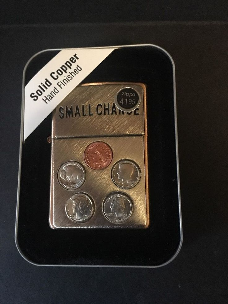 Zippo 'Small Change' US Mini Coins Lighter Solid Copper ...