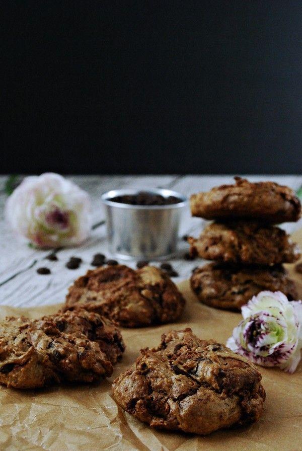 blomsterochbakverk.se - Chocolate Chip Cookie på mandelsmör