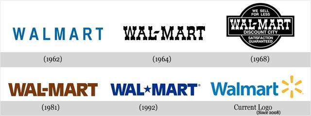 Walmart Has Had 6 Logo Variations Since 1962 Changing