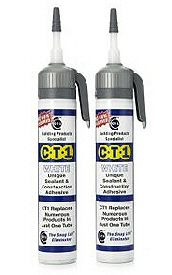 CT1 Bath Sealant and all purpose Construction adhesive. This has to be tried to be believed... forget about mildew and mould in the sealant around your homes bath, sinks, and the shower tray, CT1 leaves them permanently clear.