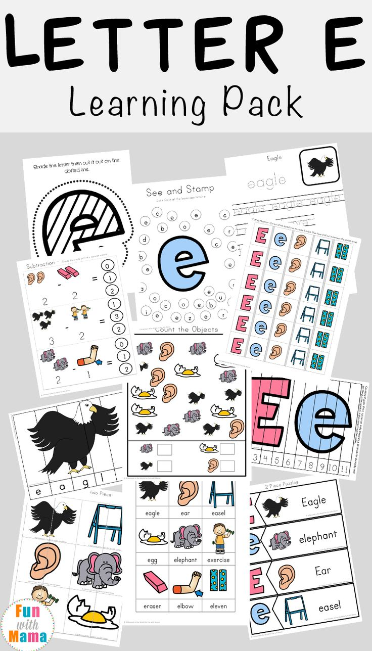 19 best letter e images on pinterest alphabet activities alphabet worksheets and preschool. Black Bedroom Furniture Sets. Home Design Ideas