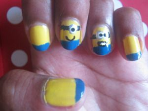 Minion Nails (Despicable Me)
