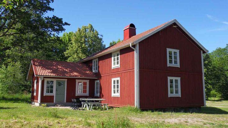 Hunnamåla Krok. Grosses Haus mit einer schönen Aussicht über See Mien, Tingsryd Kommun, Småland, Schweden