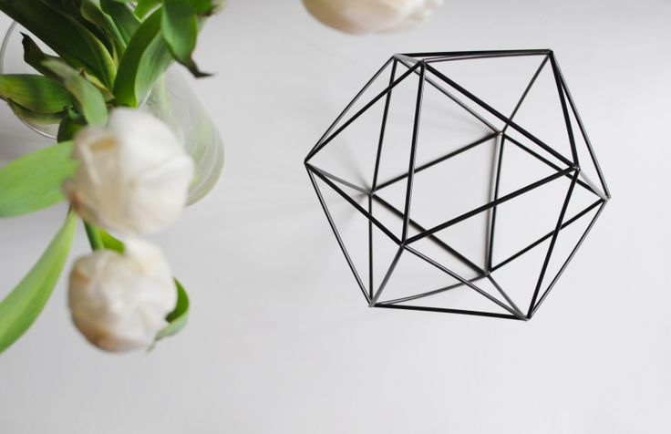 feathers of gold: faceted hexagonal ornament