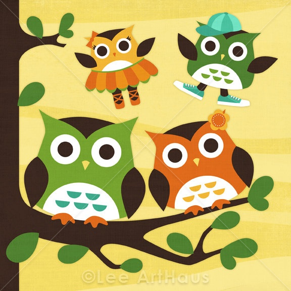 Dream family. A little boy, a little girl, and we are owls. XP