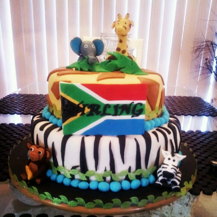 African Themed Baby Shower Cake My Sugarlicious Cakes