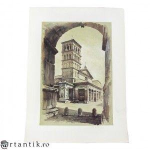 litografie de autor -  Chiesa di S. Maria - Angelo Marinucci