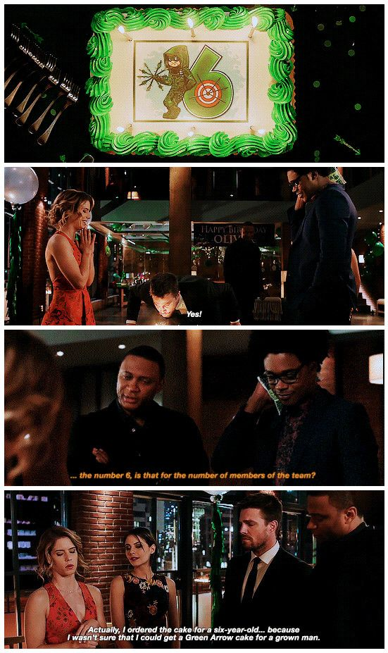 """#Arrow 5x22 """"Missing""""     Always order the superhero cakes for kids instead of adults, they will look cooler."""