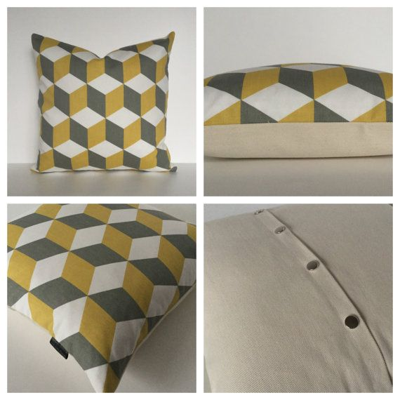 A stylish made to order shade suitable for both lamp bases and ceiling pendants hand rolled from a cotton fabric with a saffron & greycube design ▪️Matching cushions - www.etsy.com/uk/listing/267559581/saffron-grey-cushion-cover-40cm-x-40cm ▪️Coloured lighting cables -