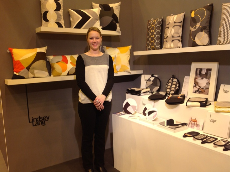 Lindsey Lang with her collection at Home 2013