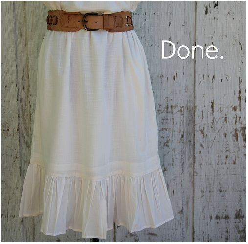 How to Lengthen skirt or dress that is to short!