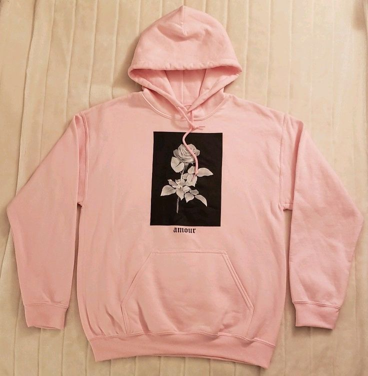 Artist union clothing co amour rose pullover hoodie pink