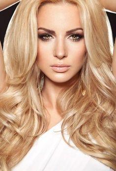 Fantasy hair. Long warm blonde hair