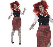 Plus Size Ladies Zombie School Girl Costume Fancy Dress Outfit Sizes 16-30