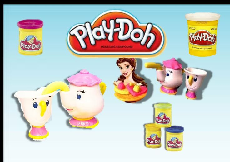 DISNEY Princess PLAY-DOH tea party playset Princess Belle