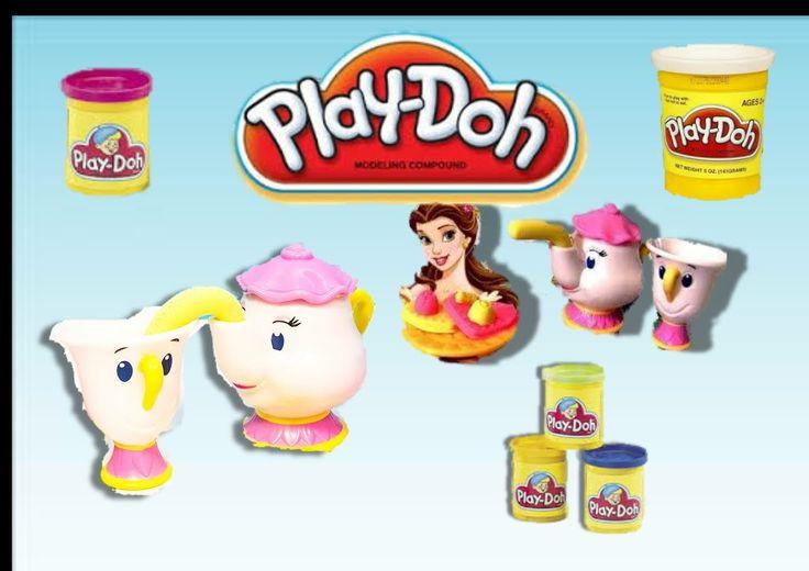 DISNEY Princess PLAY-DOH tea party playset Princess Belle