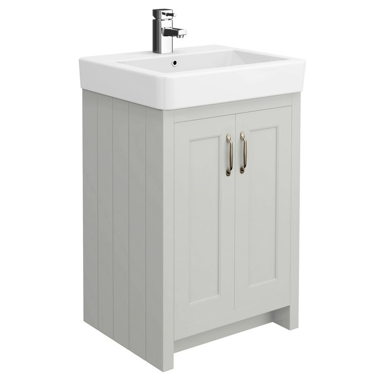 Browse the Chatsworth traditional grey vanity unit online. Features a stylish 1 tap hole design. 560mm wide. Now at Victorian Plumbing.co.uk.