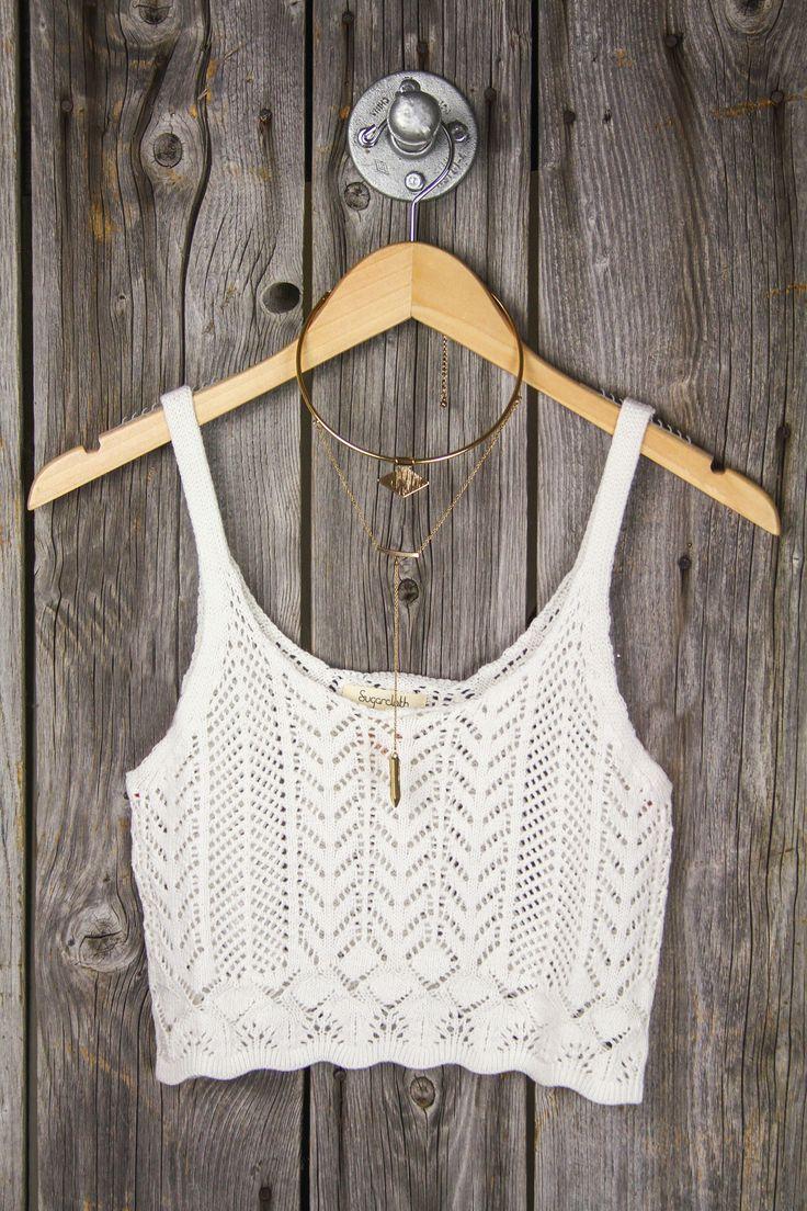 Crochet Sweater Crop Tank