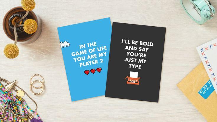 Este San Valentín, @punnypixelsha creado tarjetas de felicitación para todos los frikis.Ya seas un friki del diseño, de los juegos o de la ciencia, segur