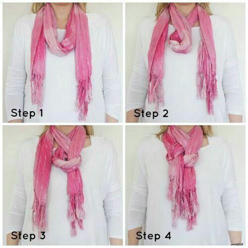Завязывание шарфа