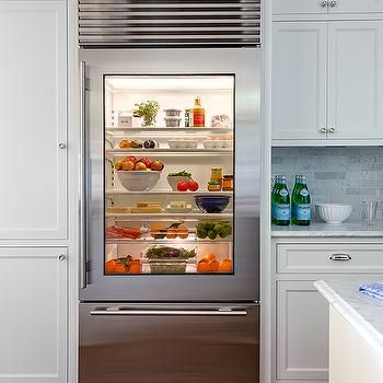 Glass Front Refrigerator With Freezer Drawer Kitchens In
