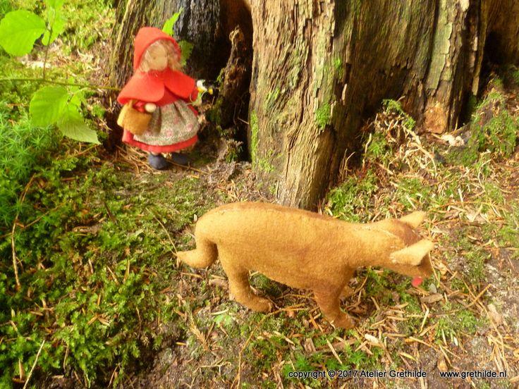 Patroonblad roodkapje en de wolf - Atelier Grethilde