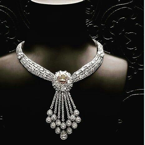 @thejewellcloset Stunning  Diamond, Yellow Sapphire  Necklace by  Shree Raj Mahal Jewellers