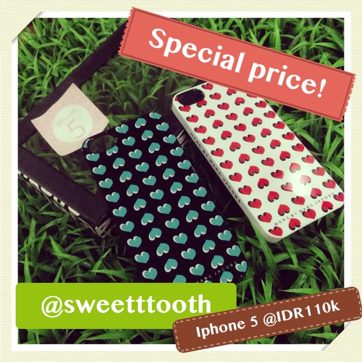 Special promo iphone 5 case, Marc Jacobs heart series only for iDR110.000