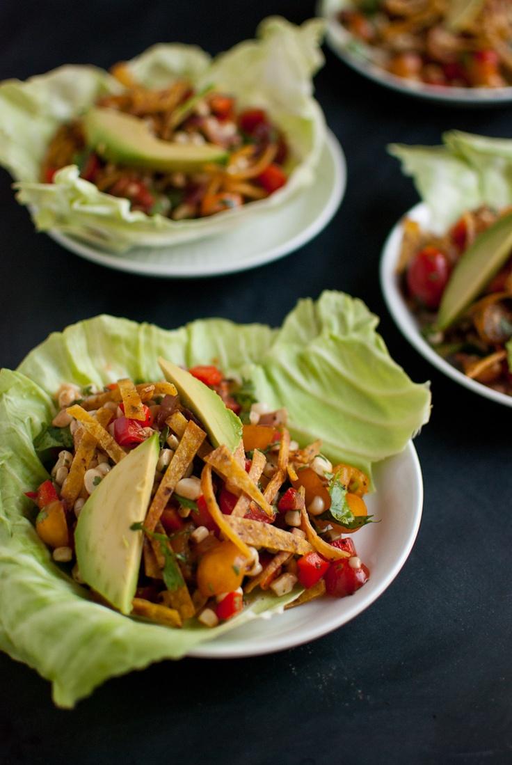 sweet corn salad wraps: Lights Meals, Vegans, Wrap Recipes, Corn Salads, Salad Wraps, Clean Eating Sweet, Wraps Recipes, Healthy Food, Sweet Corn