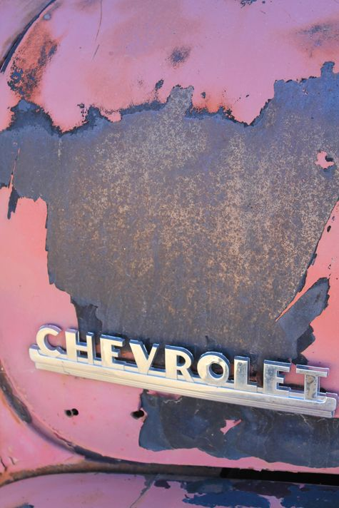 I love this chipping vintage Chevy! ~ Carinne