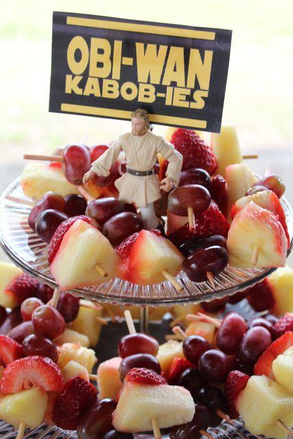"Fruit Skewers ""Obi-Wan KABOB-IES"""
