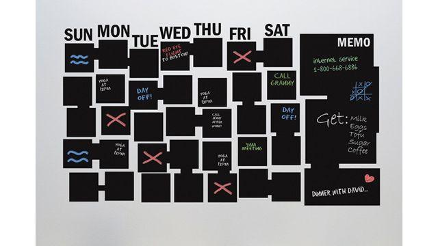 オフィスにペタッと貼れば「ほう・れん・そう」がラクになる黒板シート・カレンダー