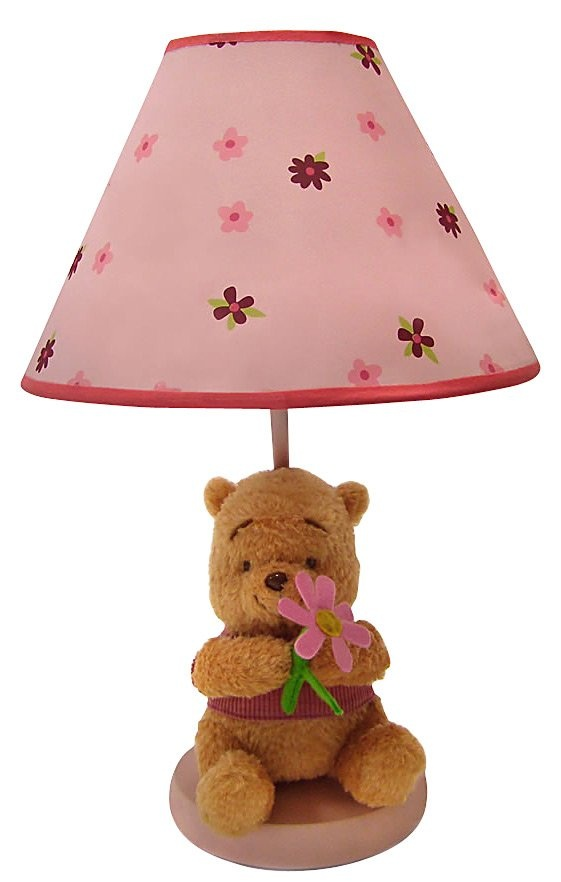 Disney Winnie The Pooh Delightful Day Lamp W Plush Base