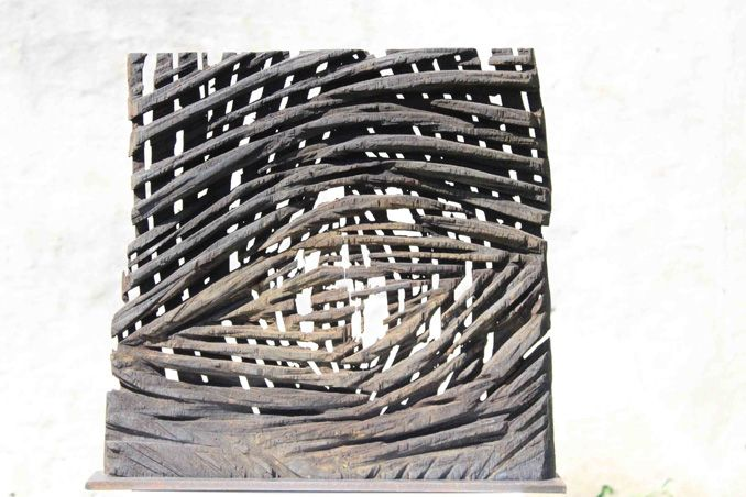 2 Relief Abstrakt Skulptur