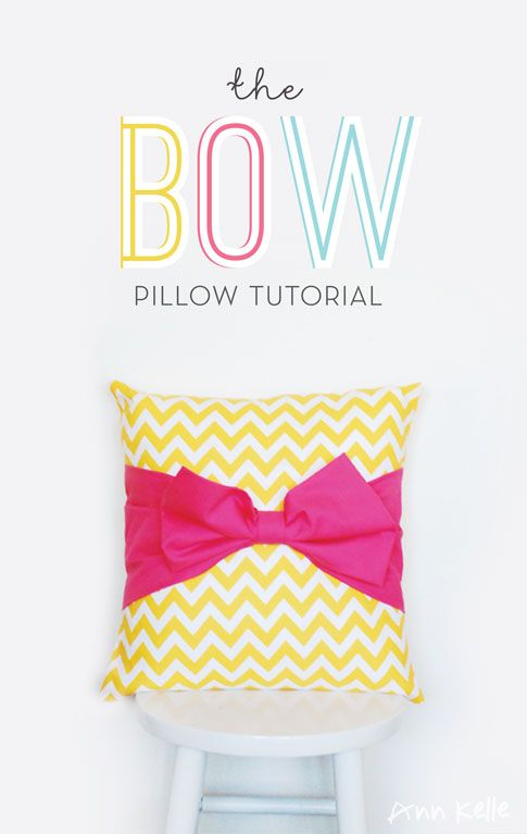 tutorial: the bow pillow